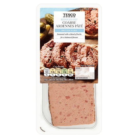 Tesco Reduced Fat Ardennes Pate 200G