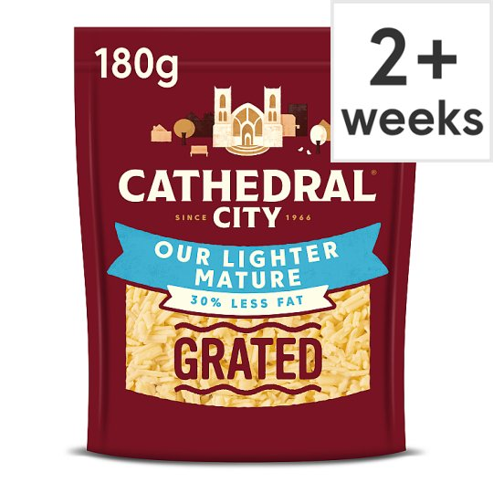 Cathedral City Lighter Grated Cheddar Cheese 180 G