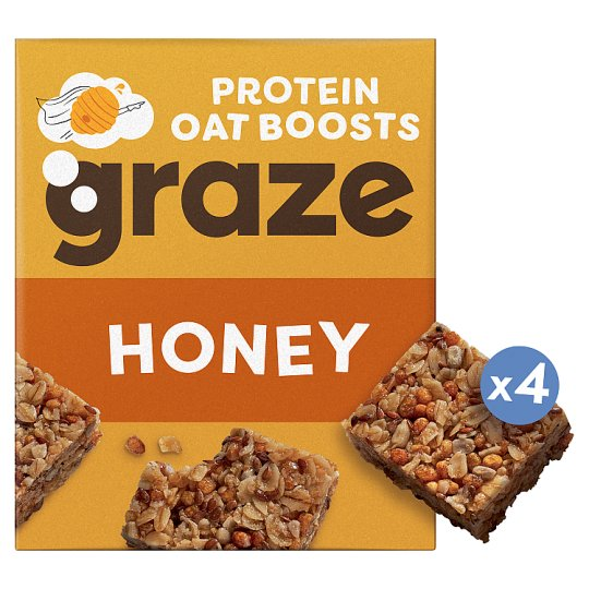 Graze Honey And Oat Bar 4 X 30G