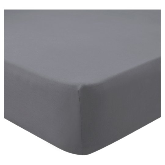 Tesco Fitted Sheet Grey Double