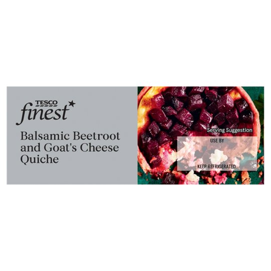 Tesco Finest Balsamic Beetroot And Goats Cheese Quiche 180G