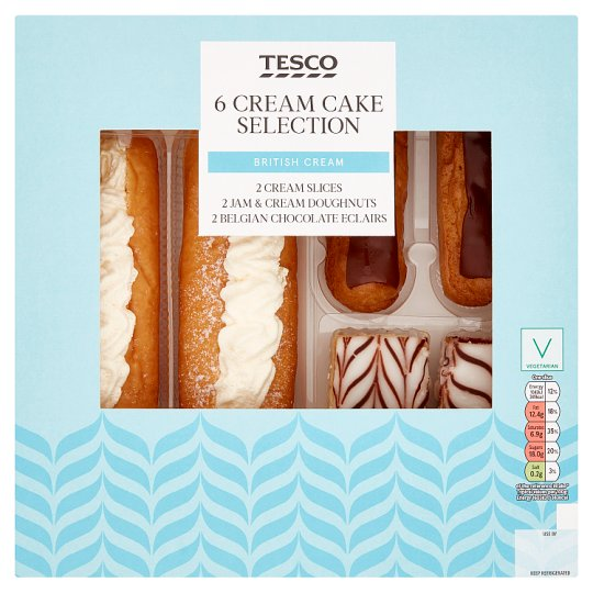 Tesco Cream Cake Selection 6 Pack