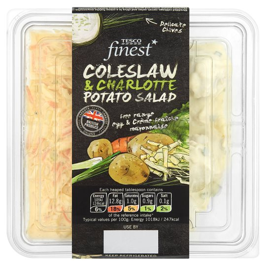 Tesco Finest Coleslaw And Potato Salad 400G