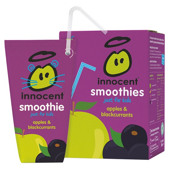 Innocent Kids Apple And Blackcurrant Smoothies4x180ml