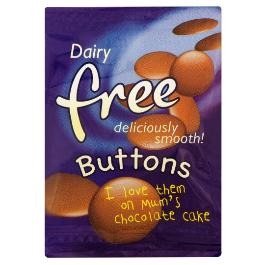 Dairy Free Chocolate Buttons 25G
