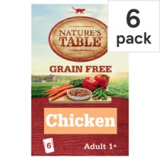 Natures Table Grain Free Adult Cat 6 Pack Chicken Vegetable 510G