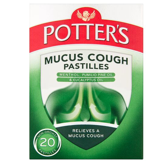 Potters Mucus Cough 20 Pastilles