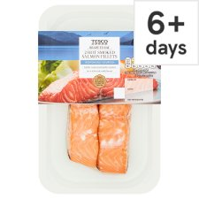 Tesco Hot Smoked Salmon Fillets 180G