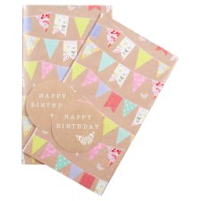 Tesco Wild Garden Bunting 2 Sheets 2 Tags