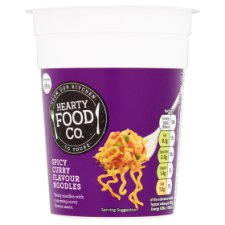 Hearty Food Co Spicy Curry Noodle Pot 70G