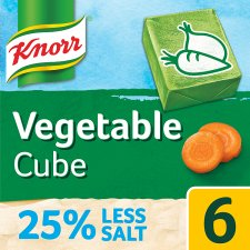 Knorr Vegetable Reduced Salt Stock Cubes 6 X 9G