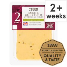 Tesco Double Gloucester Chive And Onion Cheese 200 G
