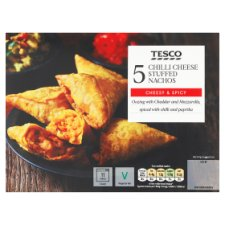 Tesco 5 Mini Cheese Stuffed Nachos 160G