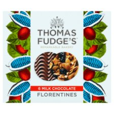 Thomas J Fudge Belgian Chocolate Florentine Bics 140G