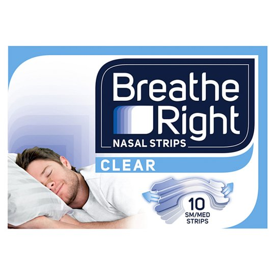 image 1 of Breathe Right Nasal Strips Clear 10 Strips