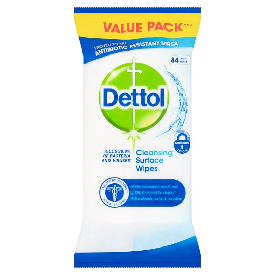 Dettol Surface Cleanser 84 Antibacterial Wipes