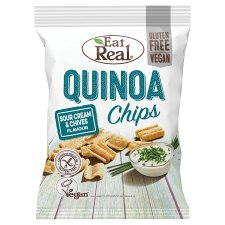 Eat Real Quinoa Chips Sour Cream And Chive 80G