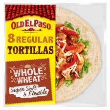 Old El Paso Super Soft Flour Tortillas Whole Wheat 8Pk 326G