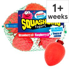 Munch Bunch Squashum Strawberry Raspberry Yogurt 360G
