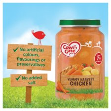 image 2 of Cow & Gate Yummy Harvest Chicken Jar 200G 7 Mth+