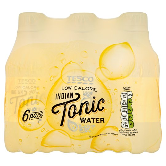 Tesco Low Calorie Tonic Water 6 X 250Ml