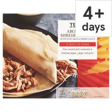 Tesco Aromatic Shredded Duck And Pancakes 230G