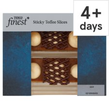 Tesco Finest Sticky Toffee Slices 182G