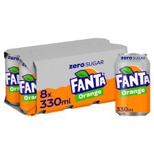 Fanta Orange Zero 8X330ml