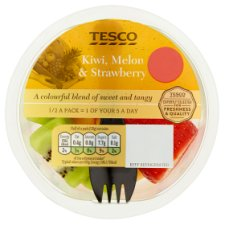 Tesco Kiwi Strawberry And Melon Medley 220G