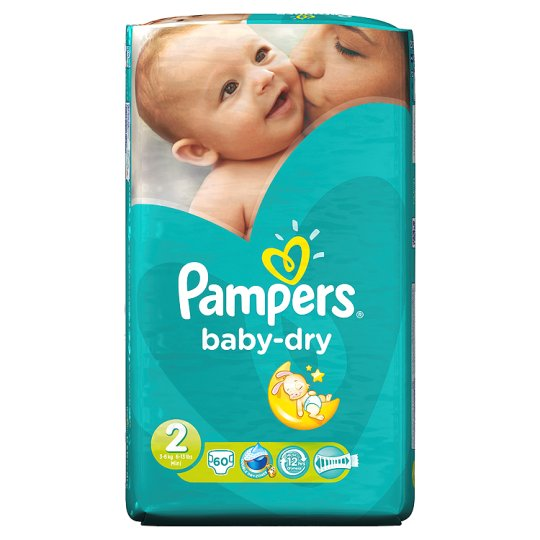 Pampers Baby Dry Size 2 Essential Pack 60 Nappies