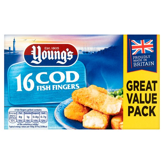 Youngs Cod Fish Fingers 16 Pack 400G