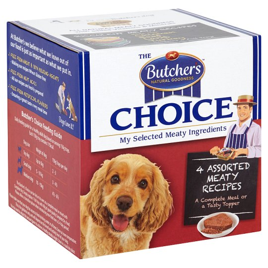 Butchers Choice Meat Variety Dog Food Trays 4 X150g