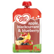 Cow And Gate Fruit Pouch 4 Mth+ Apple And Blackcurrant 100G