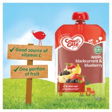 image 2 of Cow And Gate Fruit Pouch 4 Mth+ Apple And Blackcurrant 100G