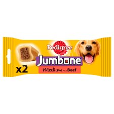 Pedigree Jumbone Medium Beef Dog 2 Chews, 200G