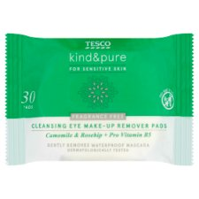 Tesco Kind And Pure Sensitive Eye Make Up Remover 30Pk