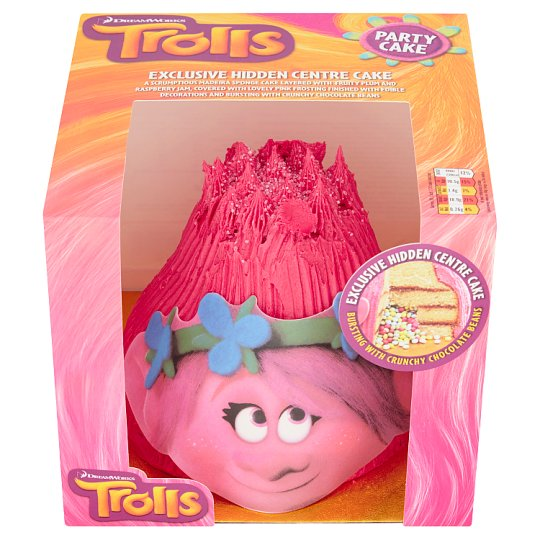 Image 1 Of Trolls Birthday Cake