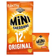 Jacobs Mini Cheddars Snacks 12 X 25 G