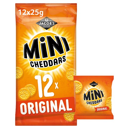 image 1 of Jacobs Mini Cheddars Snacks 12 X 25 G