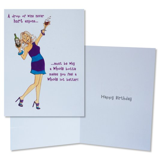 Paperlink Birthday Card Humour