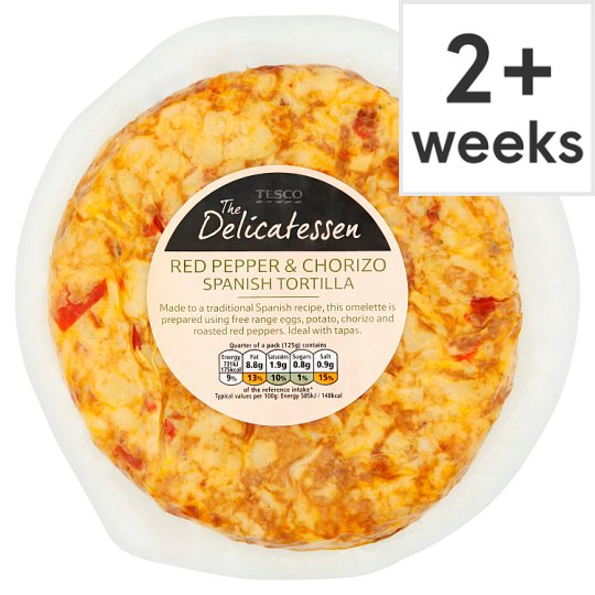 Red Pepper And Chorizo Spanish Tortilla 500G - Groceries - Tesco ...