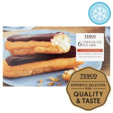 Tesco 6 Chocolate Eclairs 160G