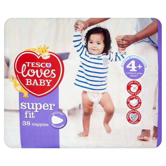 Tesco Loves Baby Superfit Size 4+ Economy Pack 38