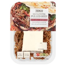 Tesco Salt And Pepper Pulled Beef 180G