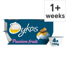 image 1 of Oykos Passion Fruit Greek Style Yogurt 4 X110g