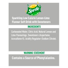 image 2 of Sprite No Sugar 6X330ml