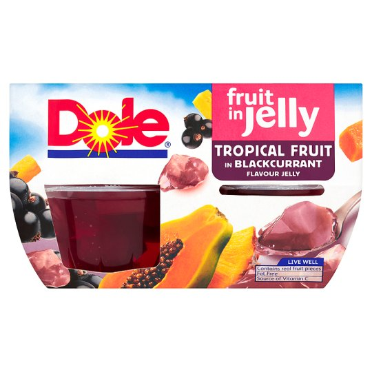 Dole Tropical Fruit In Blackcurrant Jelly 4*123G