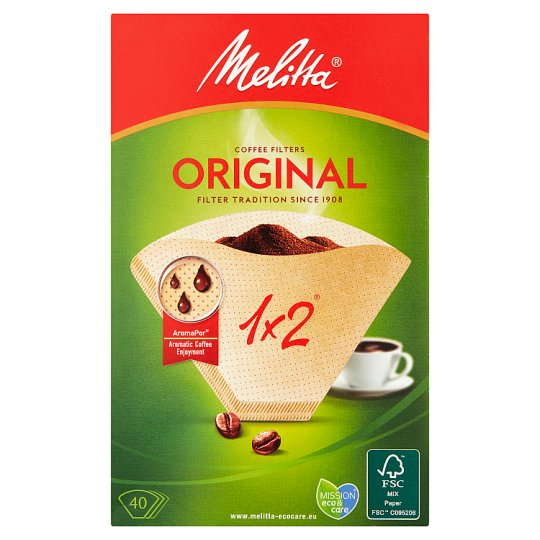 Melitta Coffee Filter Papers 1X2 40 Pack