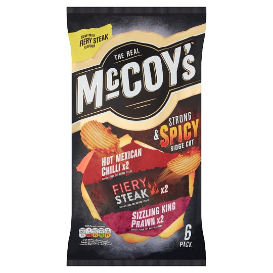 Mccoy's Strong And Spicy Crisps 6X25g