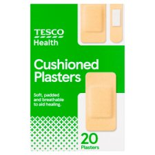 Tesco Assorted Cushioned Plasters 20'S